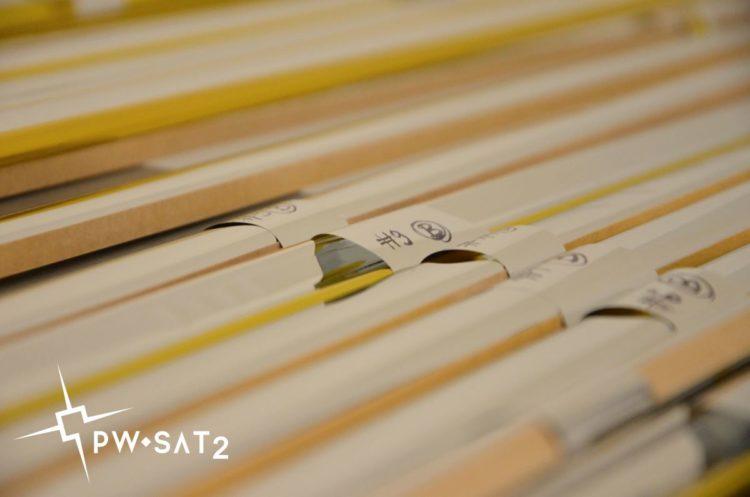 Ramiona żagla deorbitacyjnego PW-Sata2. Fot. PW-Sat2