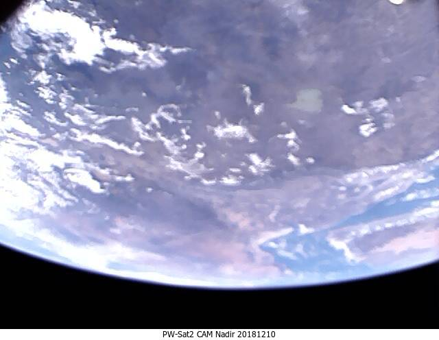 Jedno ze zdjęć Ziemi wykonane przez satelitęPW-Sat2 10 grudnia 2018 r. (nie jest to pierwsze zdjęcie wykonane przez naszego satelitę)